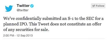 Twitter informa que presentó los papeles ante  SEC