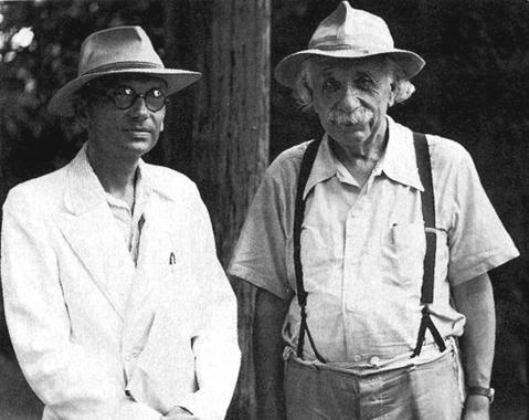 Kurt Gödel y Albert Einstein.