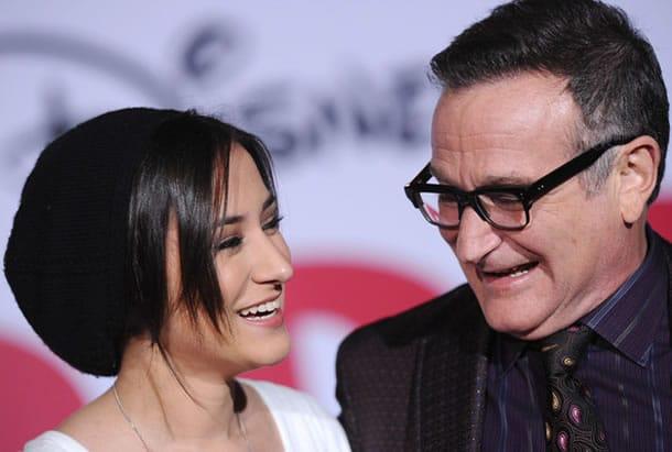 Robin Williams y su hija Zelda.