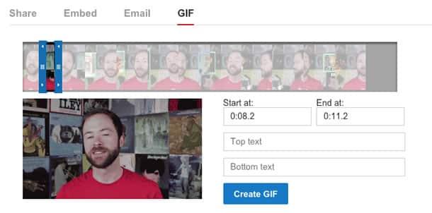 """Desde la pestaña """"Compartir"""" podrás crear los GIF animados en YouTube."""