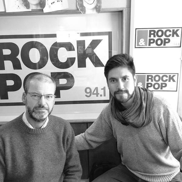 Daniel Steinmetz y Felipe Ovalle en la entrevista sobre piratería en la televisión.