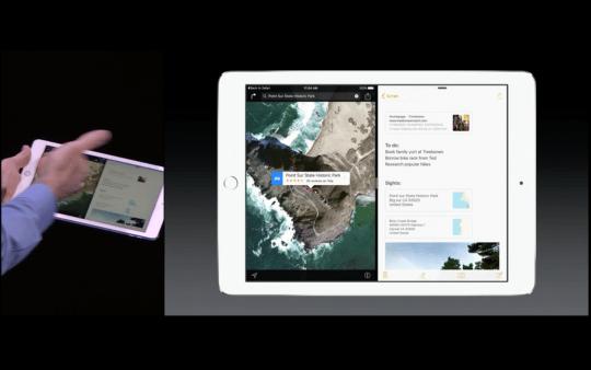 iOS 9: La multitarea y el 'split view' que podrás usar en el iPad Air 2, fueron valoradas por los asistentes al keynote.