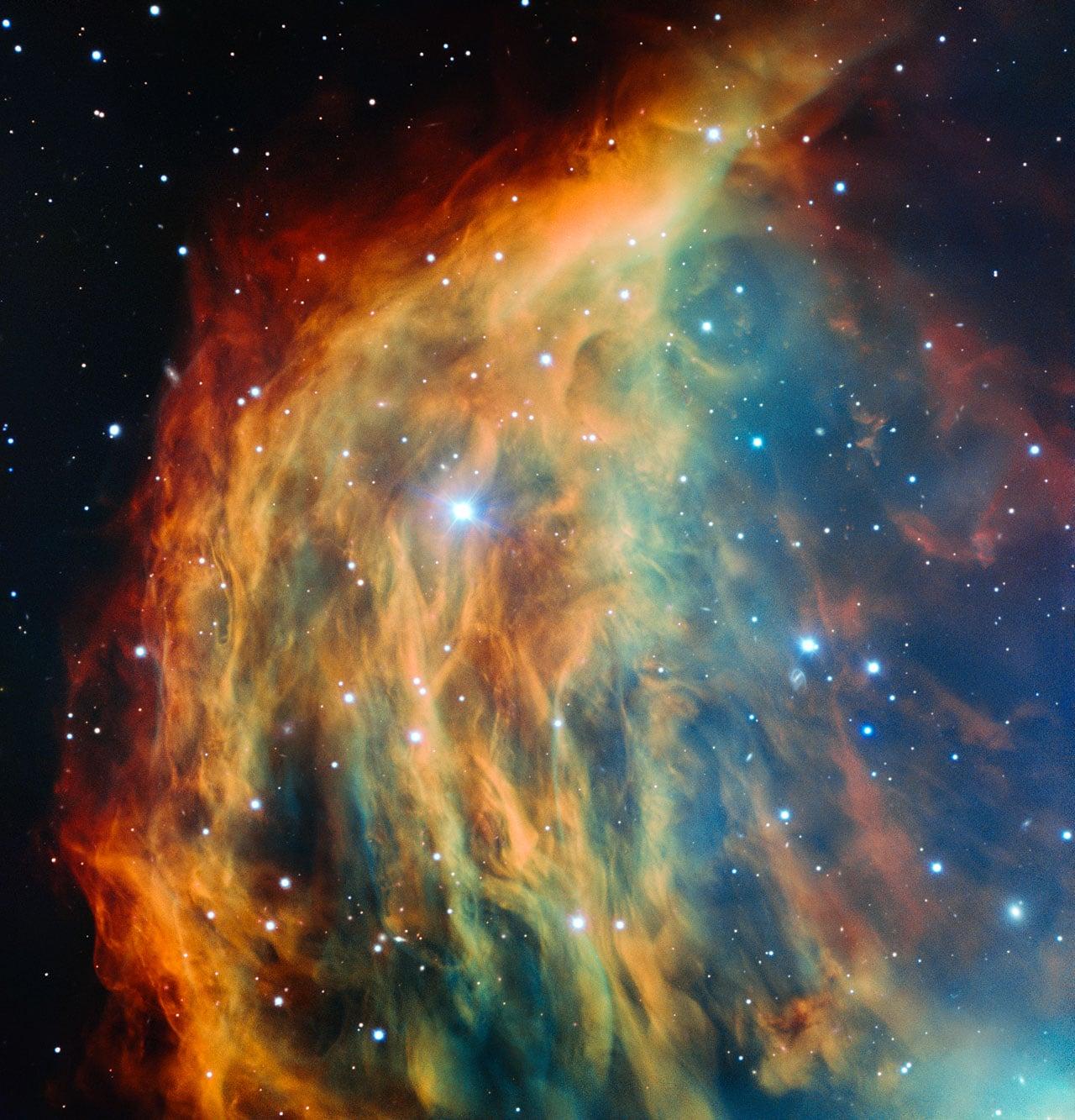Nebulosa Medusa en su fin, capturado por ESO.