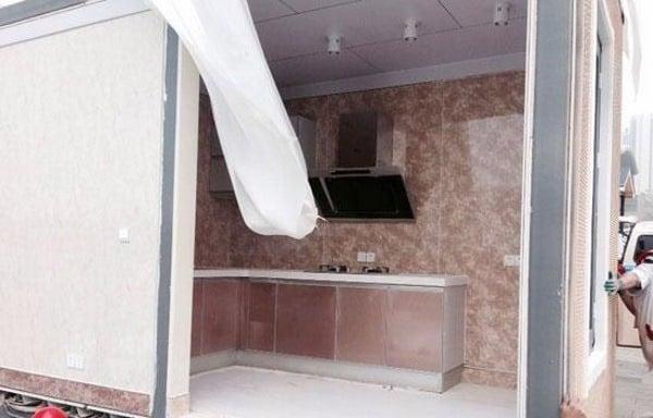 Parte del interior personalizado de una de las casas.
