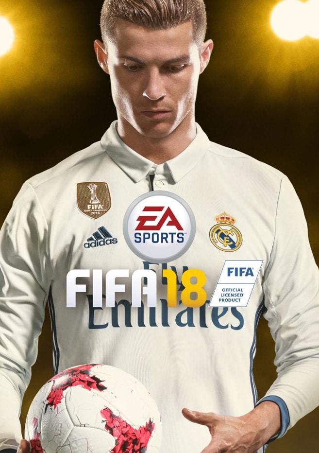 Carátula de FIFA 18 con Ronaldo.