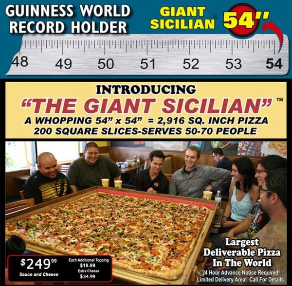 La pizza comercial más grande del mundo es del tamaño de un niño 10 años
