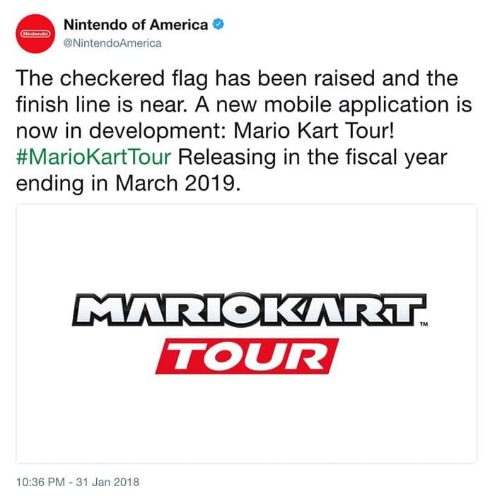 Nintendo Lanzará Mario Kart Tour Para Teléfonos